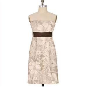 Maeve 2 Anthropologie beige floral Biennial dress